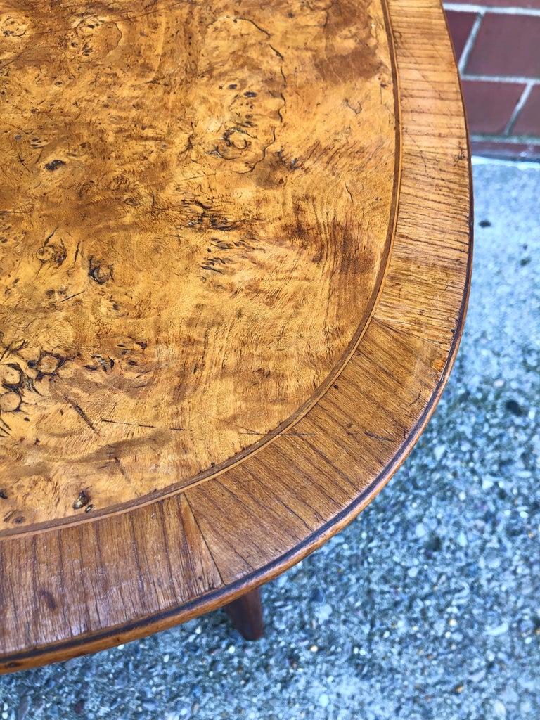 Mid-20th Century Nakashima Widdicomb Style Walnut and Burl Table For Sale
