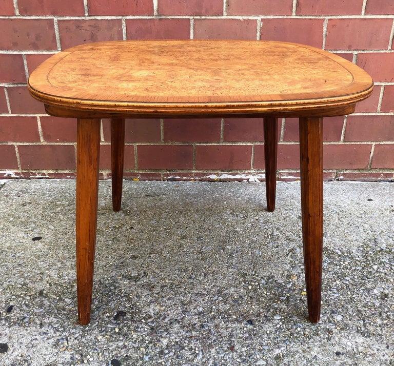 Nakashima Widdicomb Style Walnut and Burl Table For Sale 2
