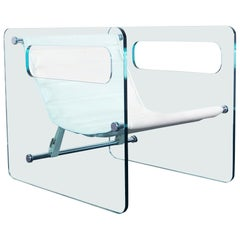 """Naked"" Glass Lounge Chair by Giovanni Tommaso"