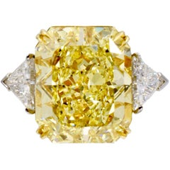 Intense Fancy Yellow G.I.A. 14.71 Carat Solitaire
