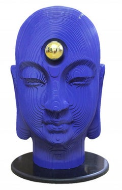 """Indian Mother, MDF, Brass & Stone by Contemporary Indian Artist """"In Stock"""""""