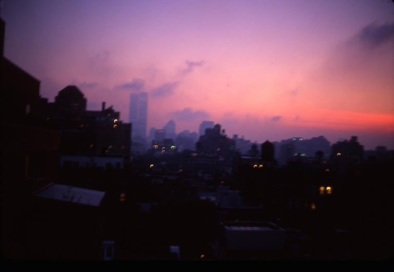 Nan Goldin Color Photograph - Night view from my apartment, the Twin Towers, New York
