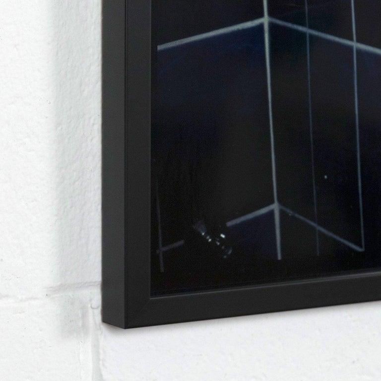 Self Portrait in My Blue Bathroom, Berlin - Gray Portrait Photograph by Nan Goldin