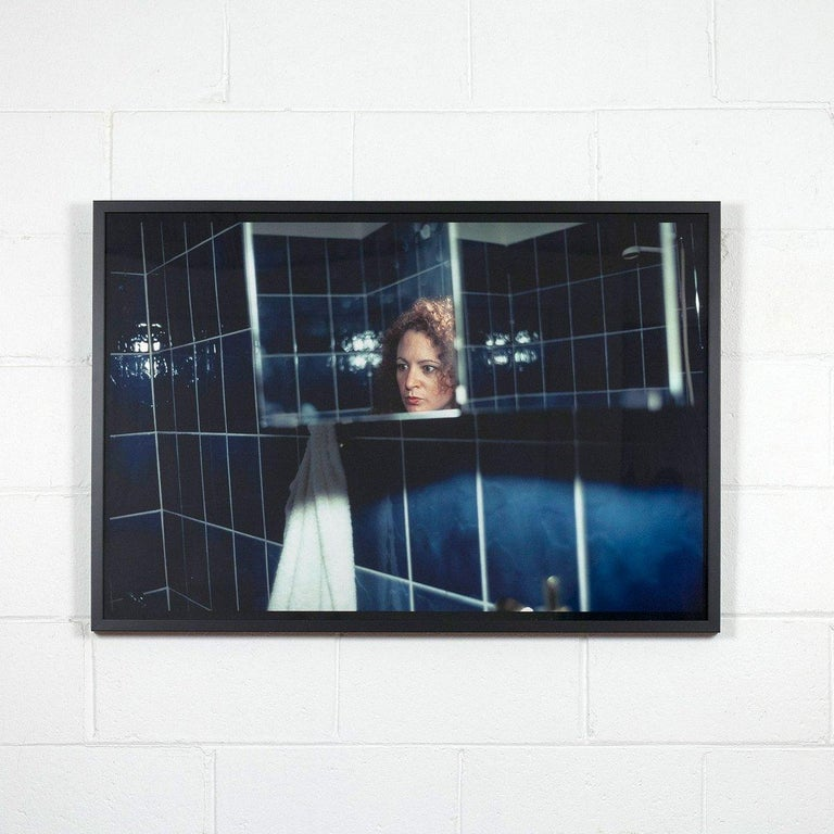 Nan Goldin Portrait Photograph - Self Portrait in My Blue Bathroom, Berlin