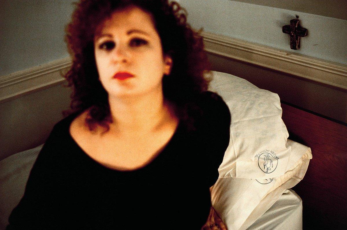 "Nan Goldin ""Self Portrait in the Lodge"""