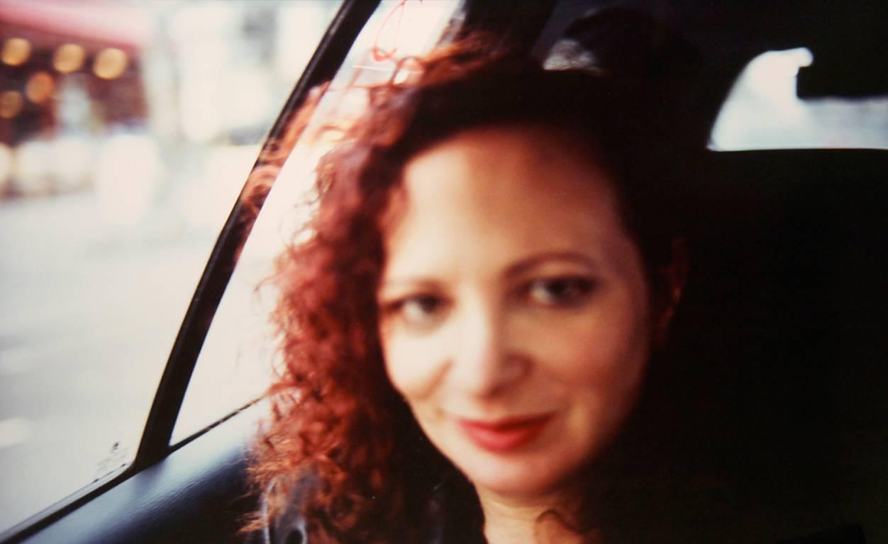 Self-portrait in the taxi, Paris