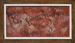 Mid-Century Paleolithic Hunt Scene