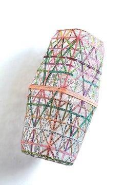 Nancy Baker, Pink Box, 2017, paper, acrylic paint, digital pigment print