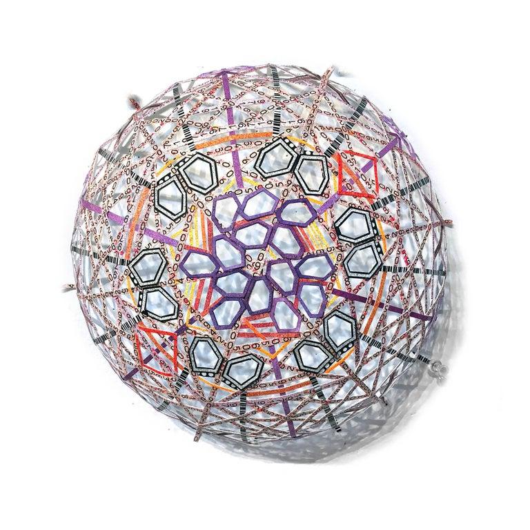 Nancy Baker, Purple Golden Section, 2017, paper, acrylic paint, digital pigment