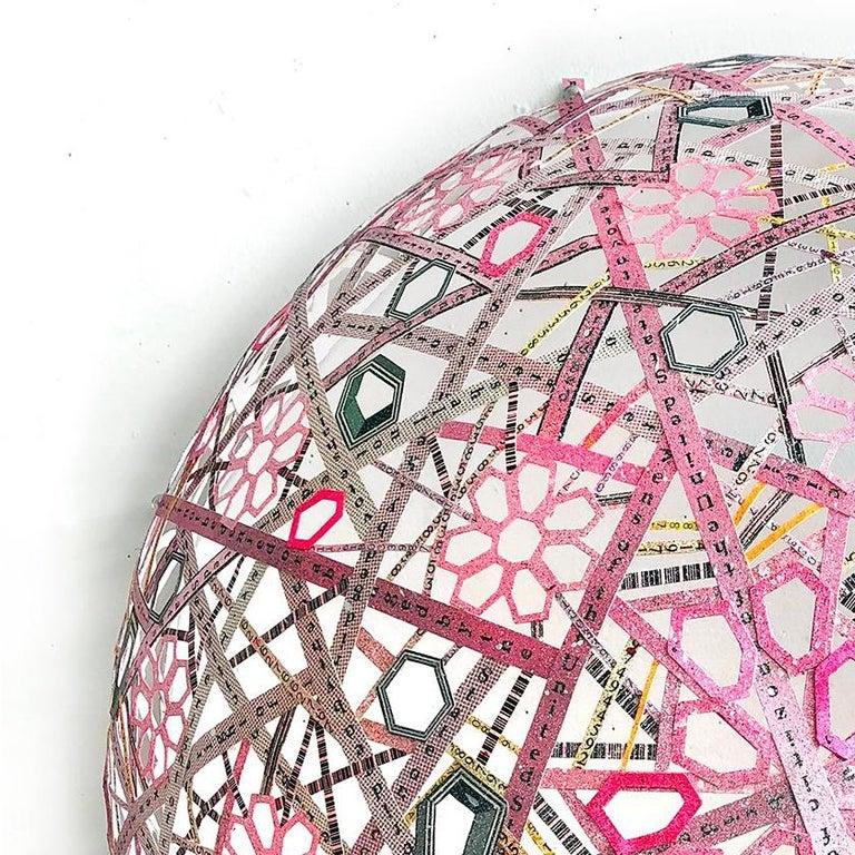 Nancy Baker, 19th Amendment, 2017, paper, acrylic paint, digital pigment print - Abstract Geometric Sculpture by Nancy Baker