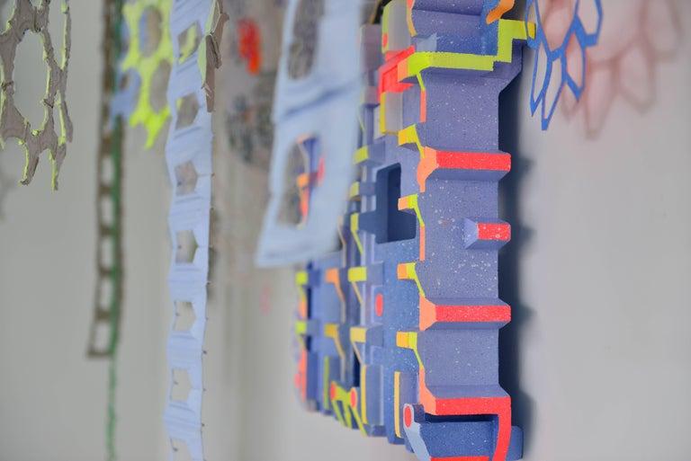 Nancy Baker, No Regrets, 2017, paper, acrylic paint, digital pigment print - Abstract Geometric Sculpture by Nancy Baker