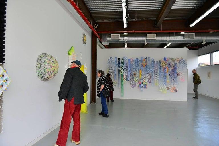 Nancy Baker, No Regrets, 2017, paper, acrylic paint, digital pigment print - Gray Abstract Sculpture by Nancy Baker