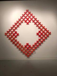 Nancy Baker, Red Dragon, 2017, paper, acrylic paint