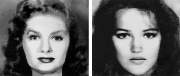 Nancy Burson Black and White Photograph - First and Second Beauty Composites