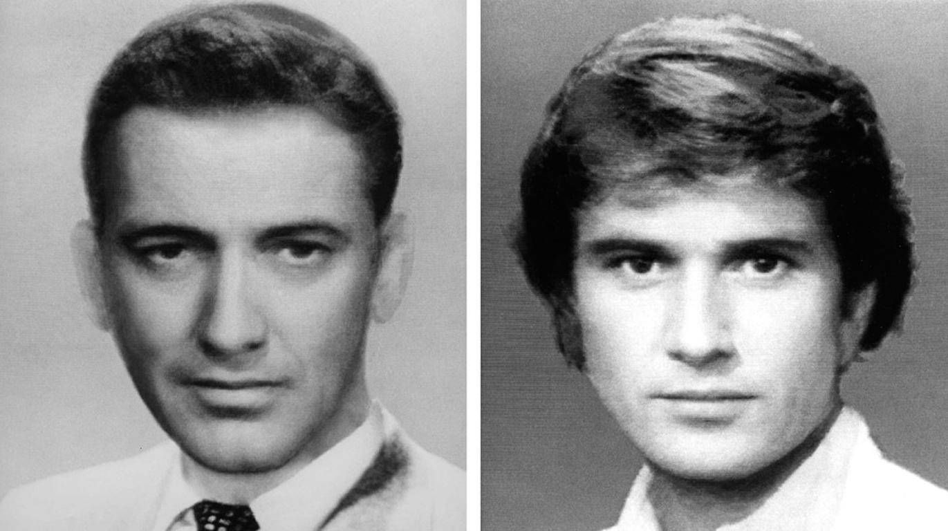 First and Second Male Movie Star Composites