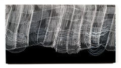 """""""Chipweave"""", Contemporary Blown Glass Wall Panel, Mounts with French Cleat"""