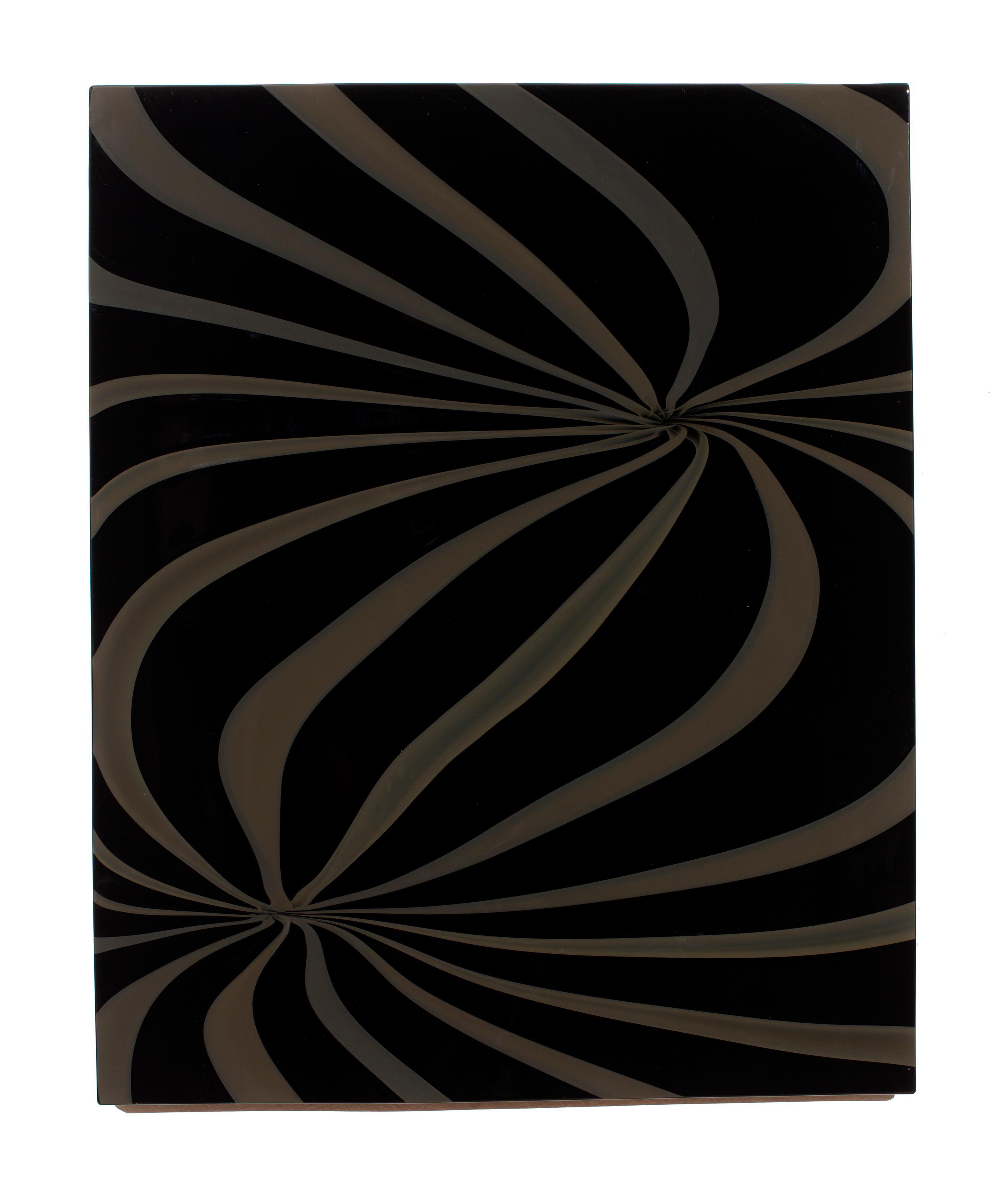 """Dark Twin"", Contemporary, Blown, Glass, Wall Panel, Design, Abstract, Sculpture"