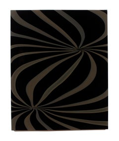 """Dark Twin"", Contemporary, Blown, Glass, Wall Panel, Design, Abstract, Sculpture"