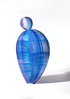 """Natalia Paloma"", Contemporary Blown Glass Sculpture, Brightly Colored Form"