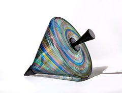 """Seaside Top"", Contemporary, Blown, Glass, Sculpture, Venetian, Pattern, Color"