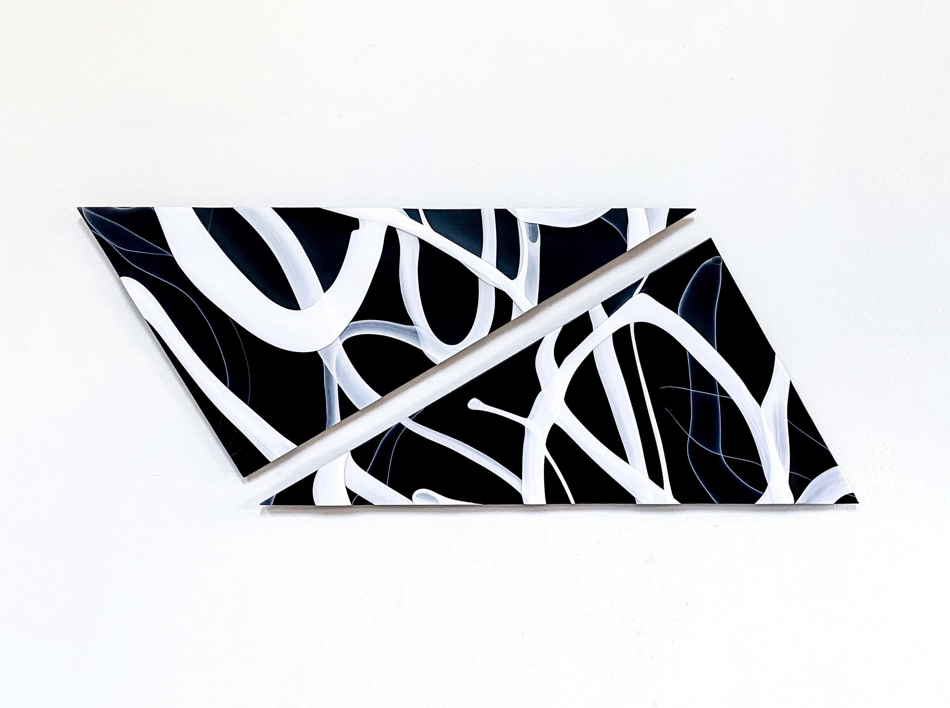 """Split Network"", Contemporary, Glass, Sculpture, Panel, Abstract, Design, Blown"