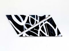 """Split Network"", Contemporary, Glass, Sculpture, Panel, Abstract, Design, Blown"