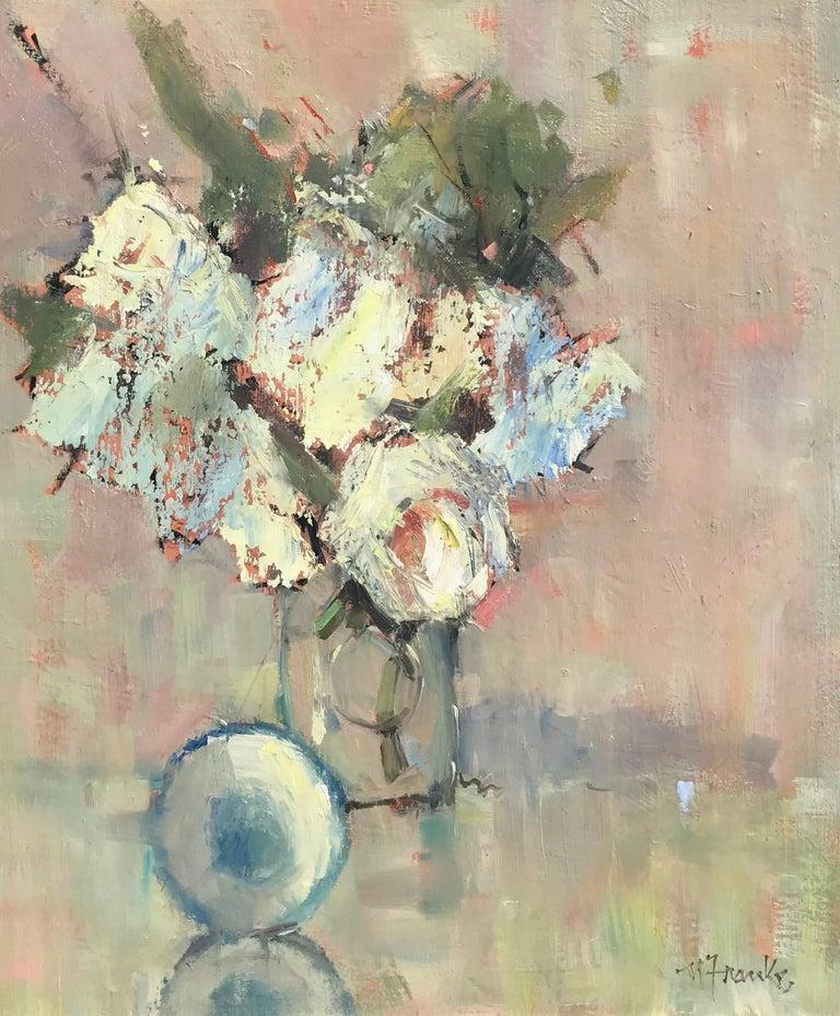 Revelation, Framed Oil on Linen Board Impressionist Floral Painting
