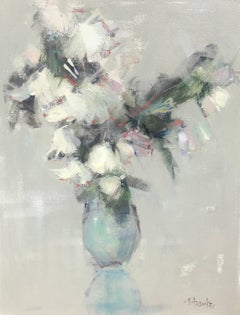 Soft Poetry, Small Acrylic on Canvas Floral Impressionist Painting