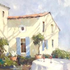 Soleil de Provence by Nancy Franke, Framed Oil on Canvas French Landscape