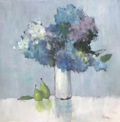 Summer Song by Nancy Franke, Oil and Cold Wax on Board Floral Painting
