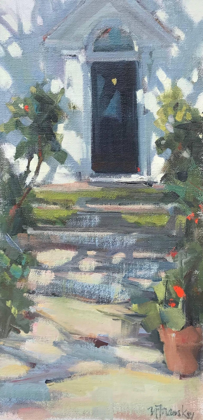 """""""Welcome Home"""" Small Framed Impressionist Painting"""