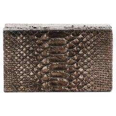 Nancy Gonzalez Box Clutch Crocodile Small