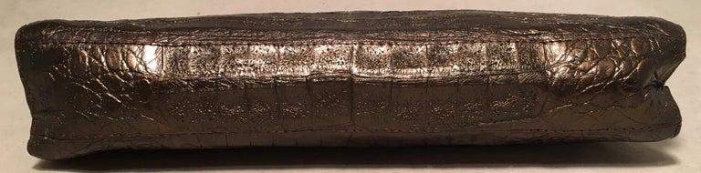 Nancy Gonzalez Bronze Brown Crocodile Clutch In Good Condition For Sale In Philadelphia, PA