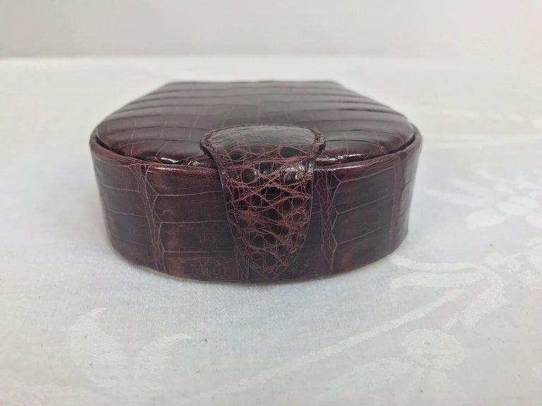 Nancy Gonzalez Burgundy Crocodile Jewelry box In Good Condition For Sale In West Palm Beach, FL