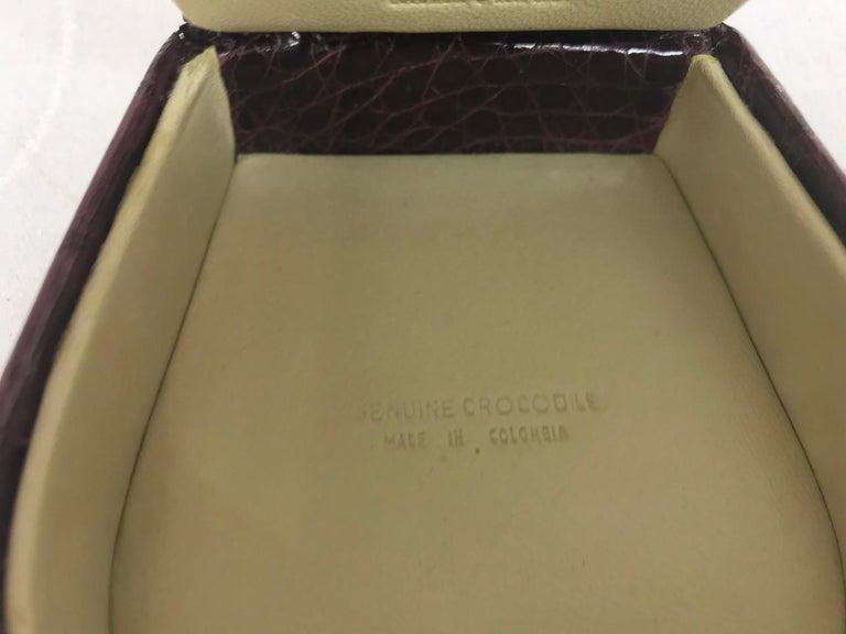 Nancy Gonzalez Burgundy Crocodile Jewelry box For Sale 4
