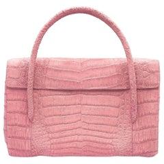 Nancy Gonzalez Colombian Genuine Crocodile Hot Pink Handbag