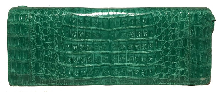 Women's Nancy Gonzalez Green Crocodile Handbag For Sale