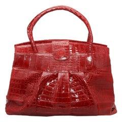 Nancy Gonzalez Red Crocodile Handbag
