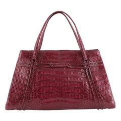 Nancy Gonzalez Shoulder Bag Crocodile East West