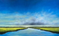 Early Daylight Marsh, Oil Painting