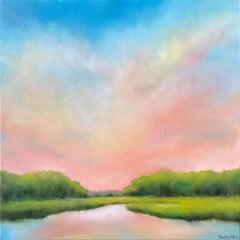 Morning Marsh Glow, Oil Painting