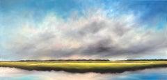 Quiet Sky Marsh, Oil Painting