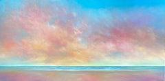 Sunset Sky Beach, Oil Painting