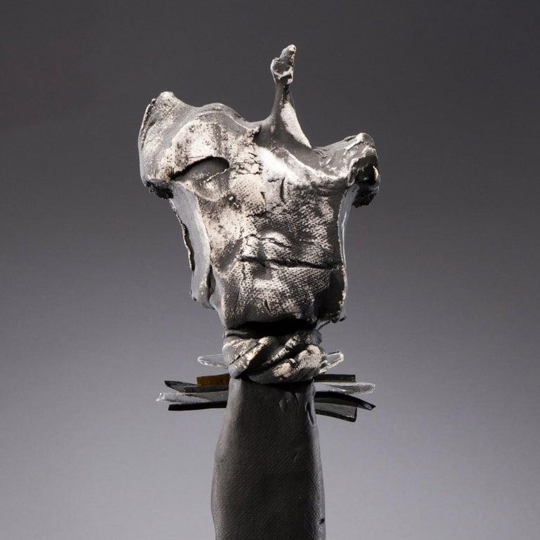 Nori (Japanese - Tradition) - Gray Figurative Sculpture by Nancy Legge