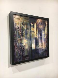 """""""Chasm"""", Contemporary, Geometric, Abstract, Architectural, Oil Painting, Framed"""