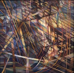 """""""Diagonal Light"""", Contemporary, Oil Painting, Geometric, Abstraction, Framed"""