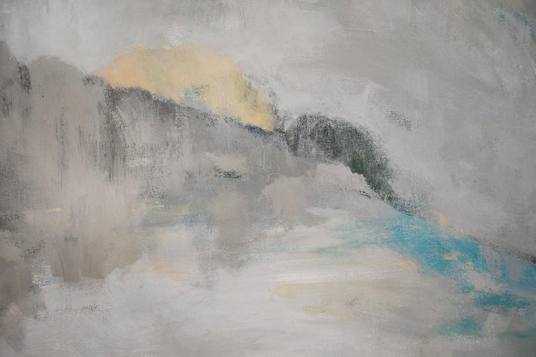 Over the Moon (Contemporary Abstracted Landscape Painting, Reflecting Moonlight) 2