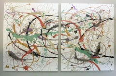 Wave Length -Diptych 48 X 120