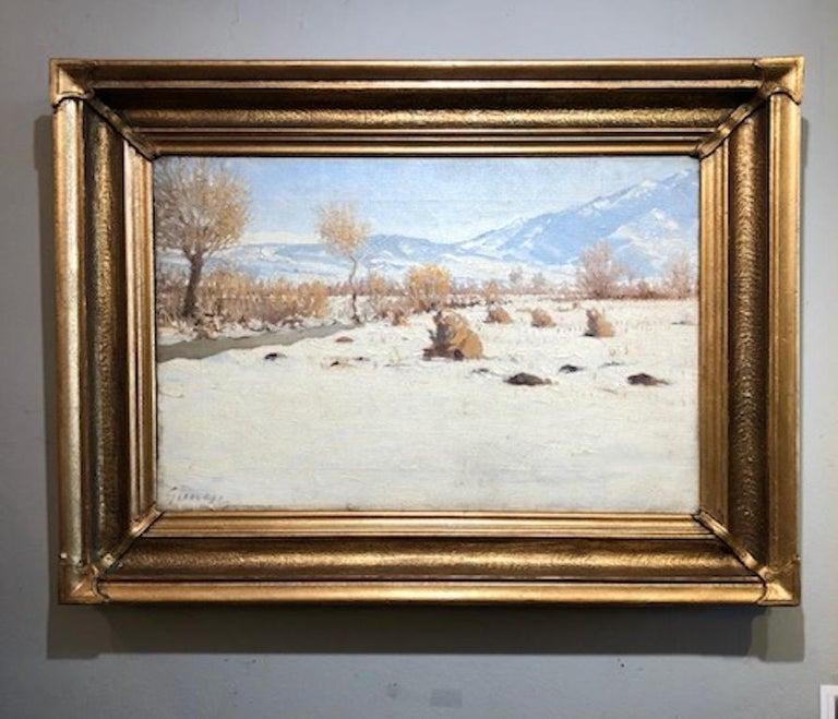 Nandor Guncser Landscape Painting - Winter Landscape
