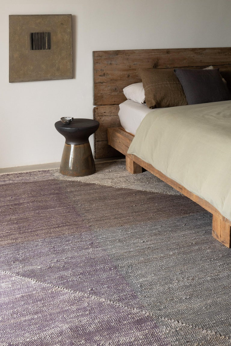 Contemporary Nanimarquina Capas 4 Standard Rug in Violet by Mathias Hahn For Sale